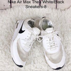 Nike Air Max Thea White/Black Sneakers-Size 8
